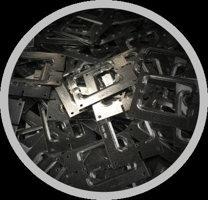 タブ端子などの金属加工部品