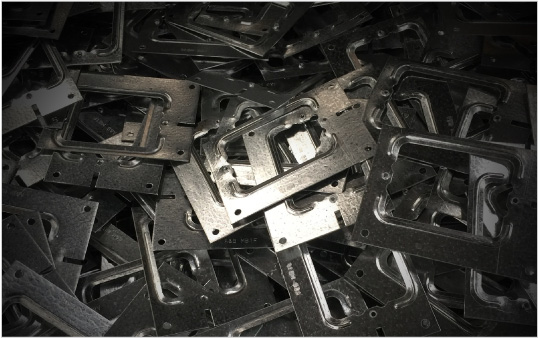 Tab terminals and other metal processing components